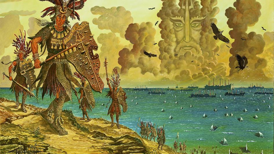 Высадка войск Атлантиды на побережье Ликса.