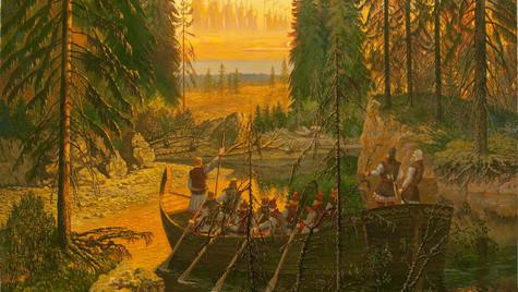 Воины неба.Хрономираж Богов-воинов Орианы,увиденный землепроходцами в 16 веке.