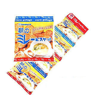 野村餅干玉米濃湯4袋 Miray Biscuit Corn potage 4pk 120g