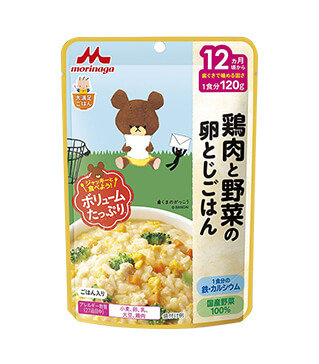 雞肉和蔬菜滑蛋飯 Chicken Vegetable Egg Rice 120g
