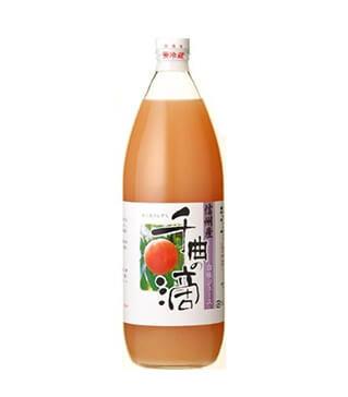 信州産白桃果汁千曲之滴 Peach Juice Chikuma no shizuku 1000ml