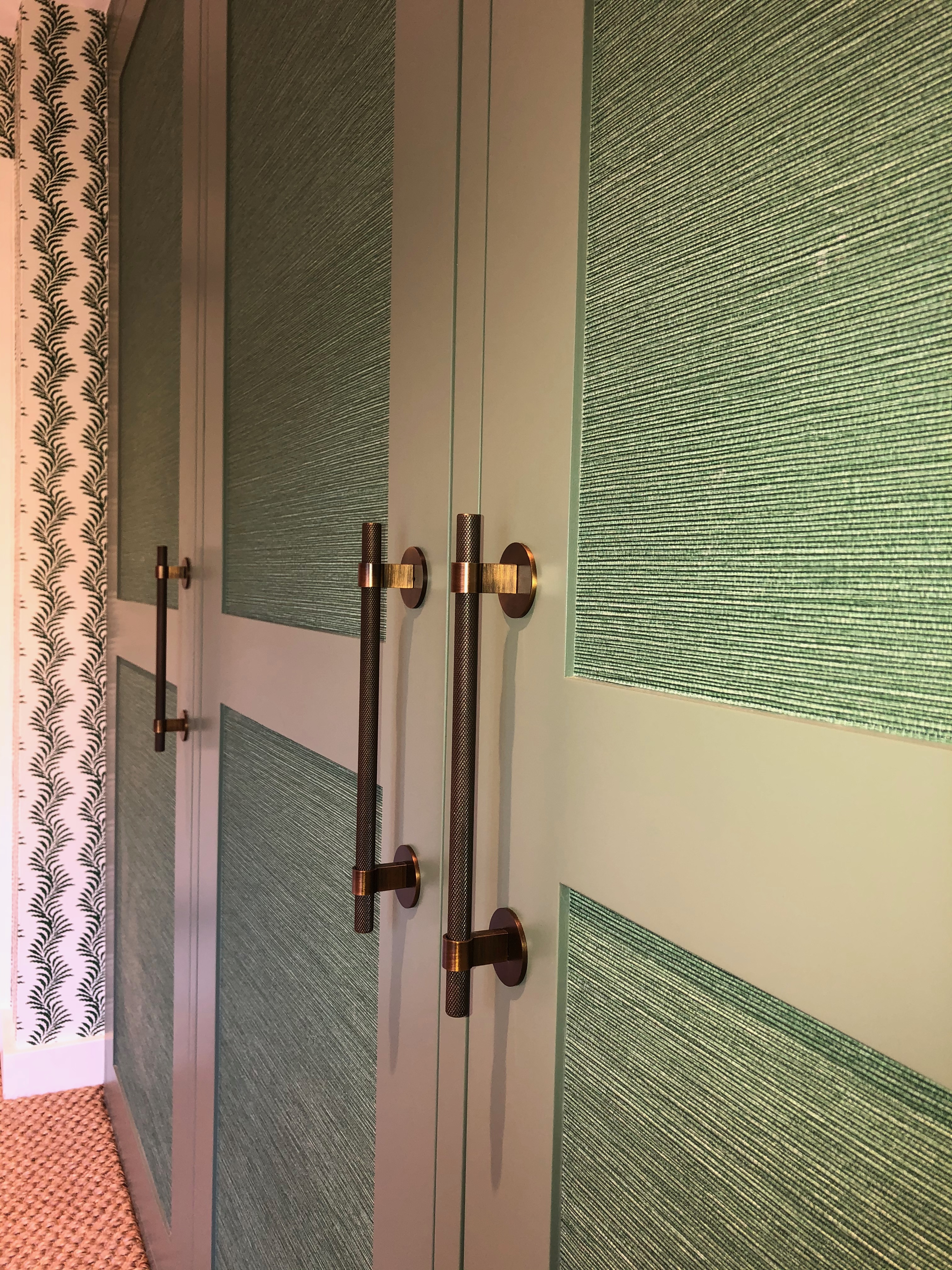 Sisal Covered Wardrobe Detail