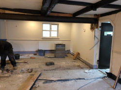 Removal of Pillar to Open Dining Area up