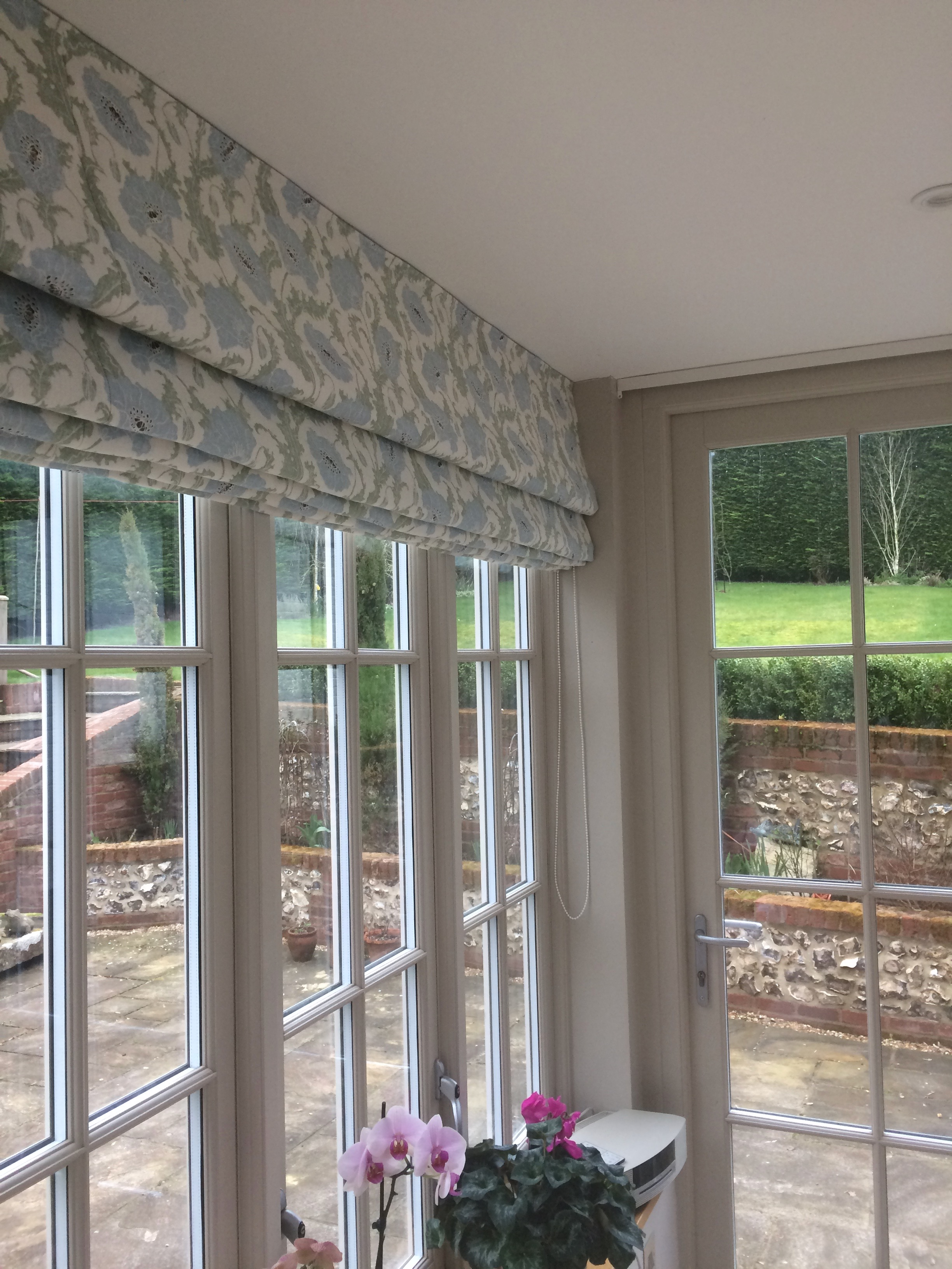 Wide width blinds in kitchen extension