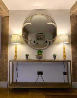 Lighting on console table