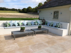 Outdoor Seating Area with Bespoke Cushions