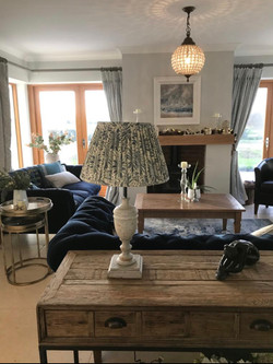 Finishing Touches to Open Plan Sitting Room