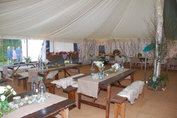 Dining with Festival Style Food Hut at 40th Birthday Party