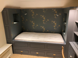Wallpapered Bed Niche