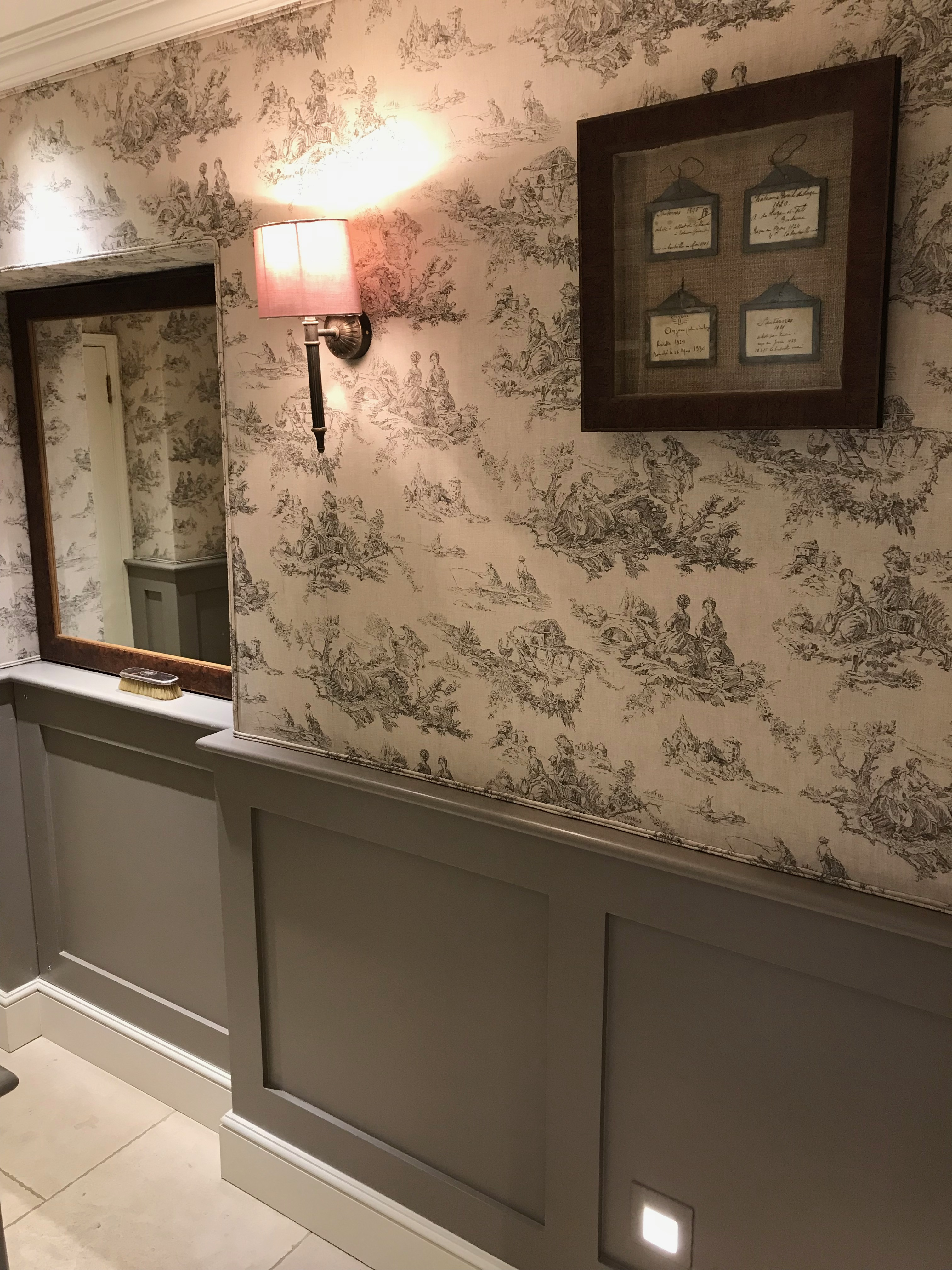 Fabric Walling in Cloakroom