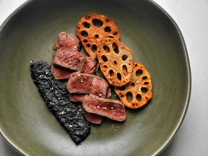 Lotus, Sesame, Beef
