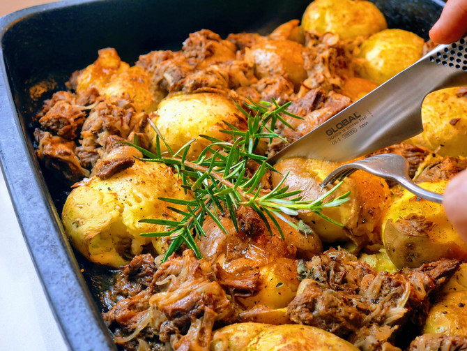 Pulled Brisket and Crispy Potatoes