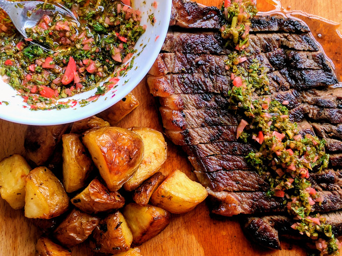 Rump with Radish Chimichurri and Goose Fat Potatoes