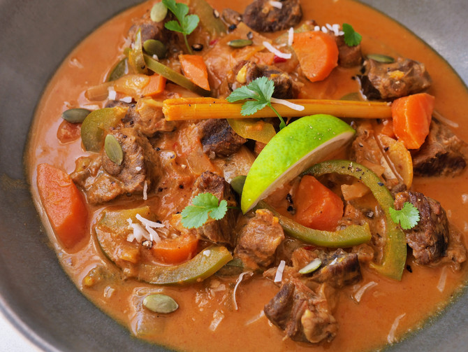 Red Thai Goat Curry