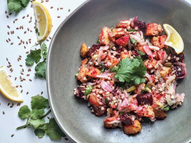 Buckwheat, Chia and Roast Vegetable Salad