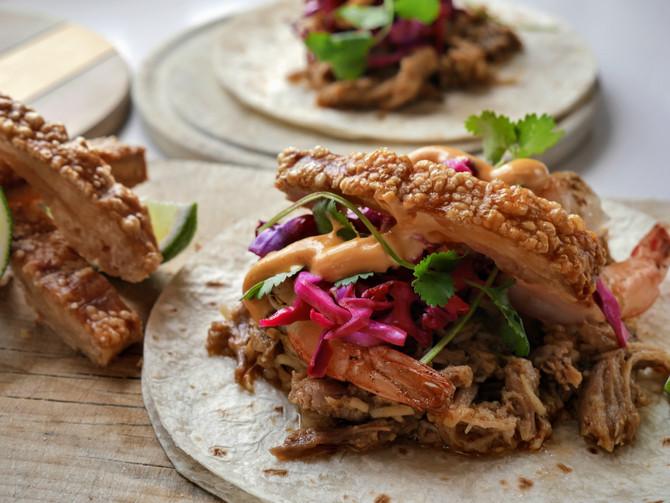 Pork and Prawn Tacos