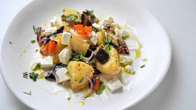 Roasted Patatosalata, with tasty additions