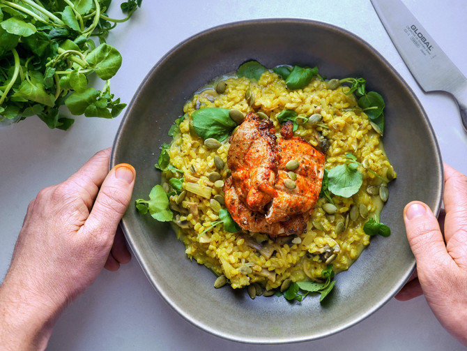 Turmeric and Brown Rice Risotto