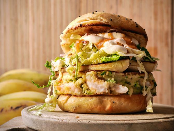 Behemoth Prawn Burger
