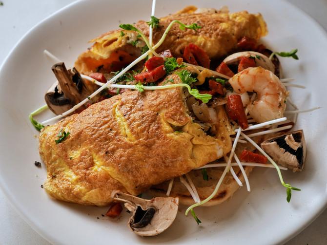 Prawn and Chorizo Omelette