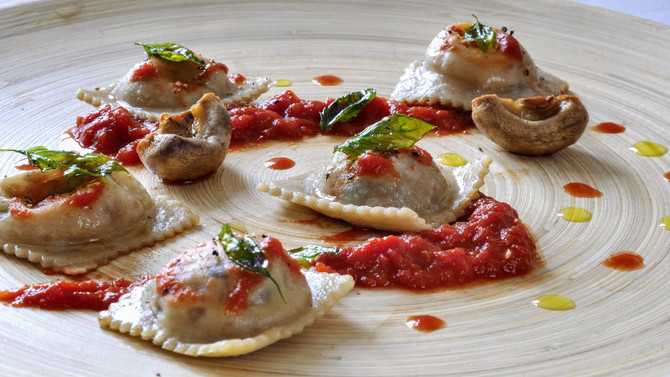 Smoked Mackerel and Thyme Ravioli