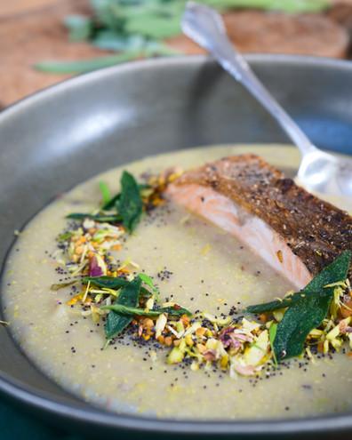potato and burnt butter soup pistachio.jpg