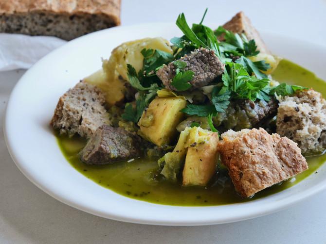 Green Beef Stew