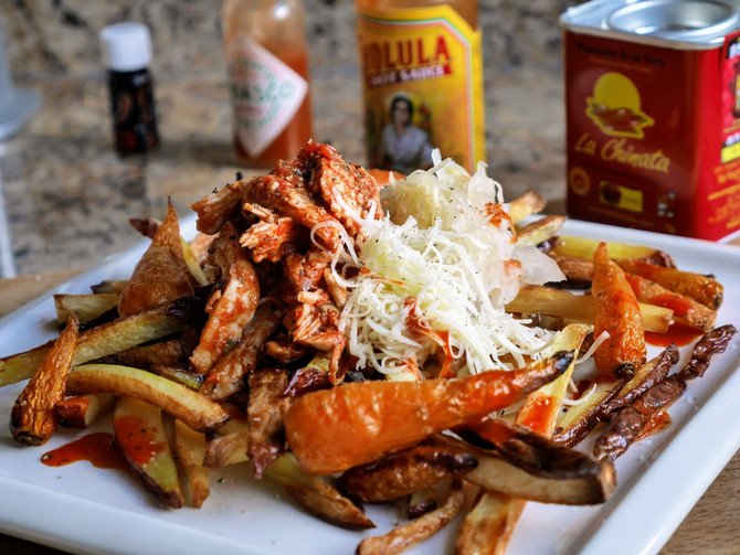 Spicy Chicken Loaded Fries