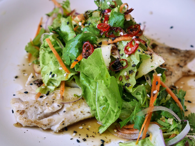 Fish and Thai Apple Salad