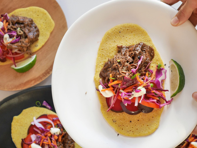 Spicy Mole Negro Tacos with Cheat Tortillas