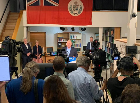 DOUG FORD VISITS THE LUCAN AREA HERITAGE AND DONNELLY MUSEUM
