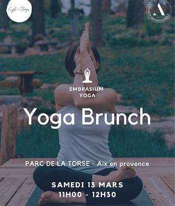 affiche yoga brunch