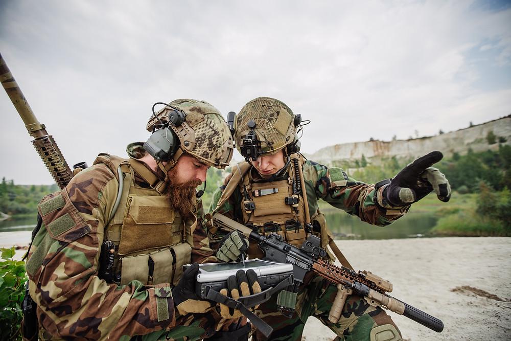 US Soldaten in Woodland Camouflage Uniform