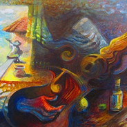 Rigo Rivas Troubadours Acrylic on Canvas