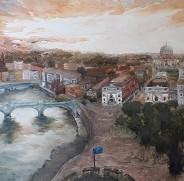 Daniela De Giorgio Roma Oil on Canvas 70
