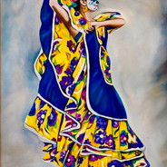 Barbara Rivera Blue and Yellow Dancer Oi
