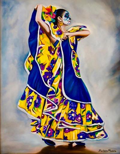 Barbara Rivera Blue and Yellow Dancer Oi