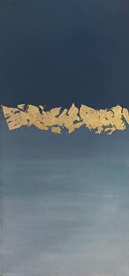 Jocelyn Moreno Golden Water Acrylic on C