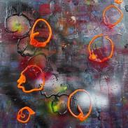 Laure Poyet Raimboz Globules Acrylic on