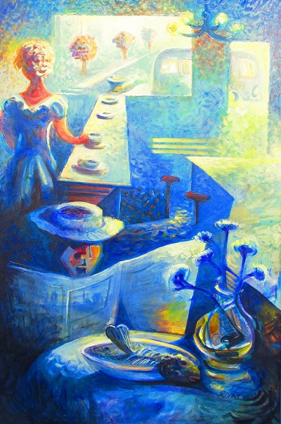 Rigo Rivas The Diner Acrylic on Canvas 2