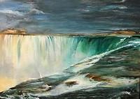 Erika Boxler Niagara Acrylic on Wood 12x