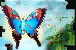 Shellise Berry Transformation Acrylic on
