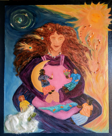 Mother Earth and her Children by Therese Verner.png