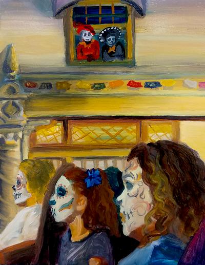 Aliza Bejarano Escucha Oil on Canvas 10x