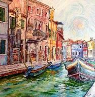 Juan Carlos Boxler  Venice Oil on Canvas