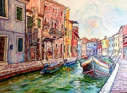 Juan Carlos Boxler  Venice Oil on Canvas