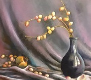 Olivia Alfionis Fruit of Life Oil on Can