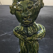 James Martinez Reflecting Clay Sculpture