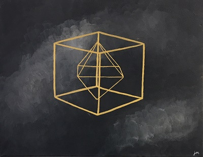 Jocelyn Moreno Geometric Acrylic on Canv