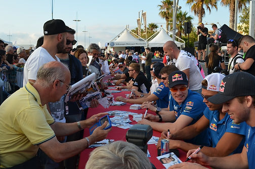 A&S rally travel Sardinien - Autograph session